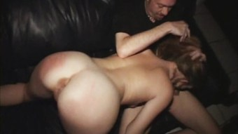Wild Blonde Stripper Whore ANAL Fucked By All