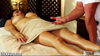 TrickySpa masseur Cock Massaged by asian Deep Throat  HD