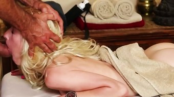TrickySpa natural blonde First Time Sucking Dick  HD