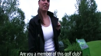 Blonde fucked at golf course doggystyle