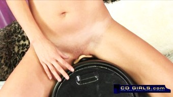 Charlie Laine controls the sybian