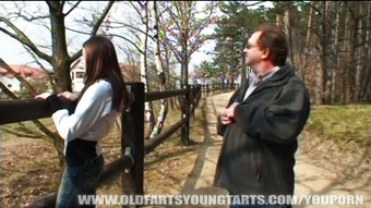 Cute young girl fucked by an old man