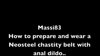 How to prepare and ware a Neosteel chastity belt with anal dildo