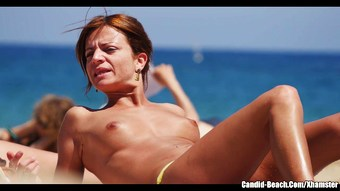 Topless Beach Girls Voyeur Hidden cam HD Video