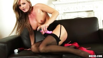 Horny Euro Blonde Sandra Sanchez Plays with All Her Sex Toys