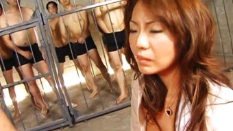 Slutty Asian bitch getting groped up by the nasty fellas