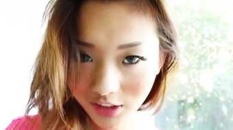 Asian fishnet sub roughly fucked and facialed  HD