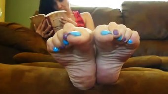 Female Feet Propped Up