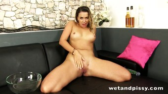 Solo squirter is really horny and wet
