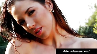 Penthouse Pet Jelena Jensen Bangs Pussy With Cobalt Dildo!