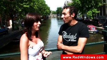 Real amsterdam mature slut sucks tourist