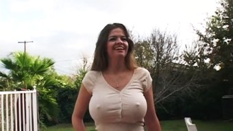Fucking the neighbor's busty wife while he's working